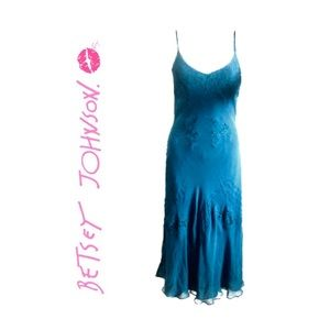 New Betsey Johnson 100% Silk Dress - 8